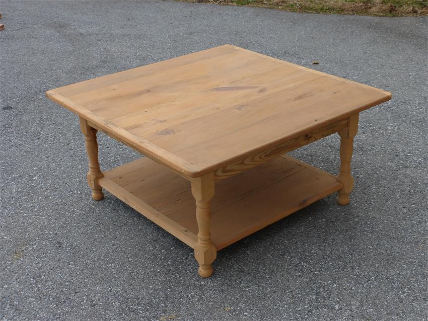 Amish Reclaimed Barn Wood Coffee Table with Shelf