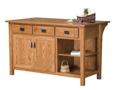 Amish Arts and Crafts Mission Kitchen Island