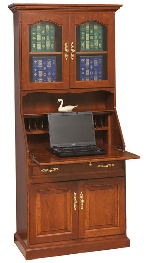 Amish Deluxe Secretary Desk with Doors