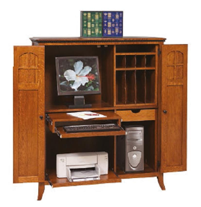 Amish Mt. Eaton Computer Armoire Desk