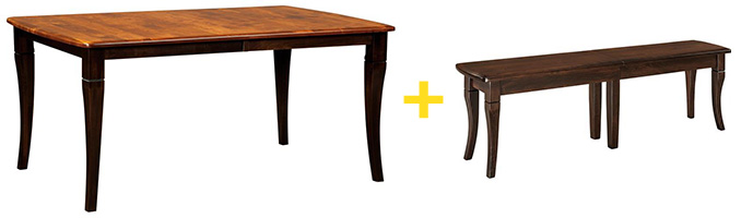 Amish Newbury Leg Table and Dining Table