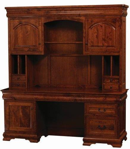Amish Sault Ste Marie Office Credenza Deska and Hutch Suites
