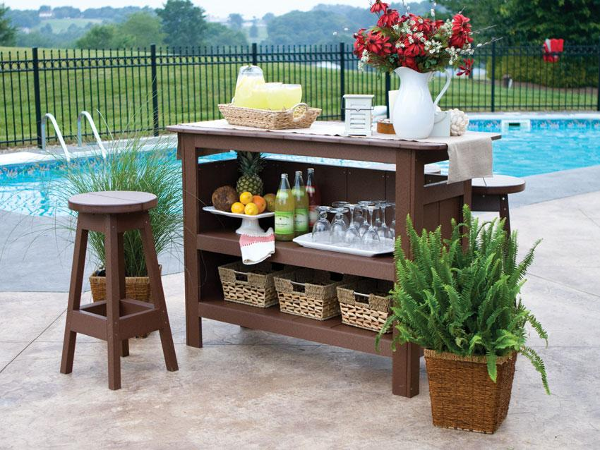 Backyard Patio Bar berlin gardens outdoor bar set with backless bar stools from