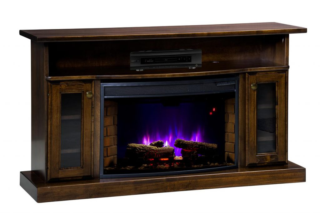 Amish Lancaster Classic Electric Fireplace with Remote