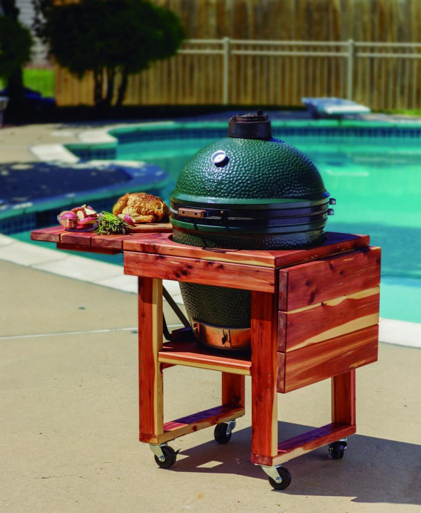 Amish Wood Folding Grill Table