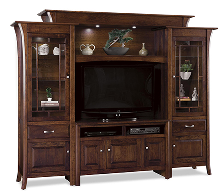 Amish Ensenada Six Piece Entertainment Center Wall Uni