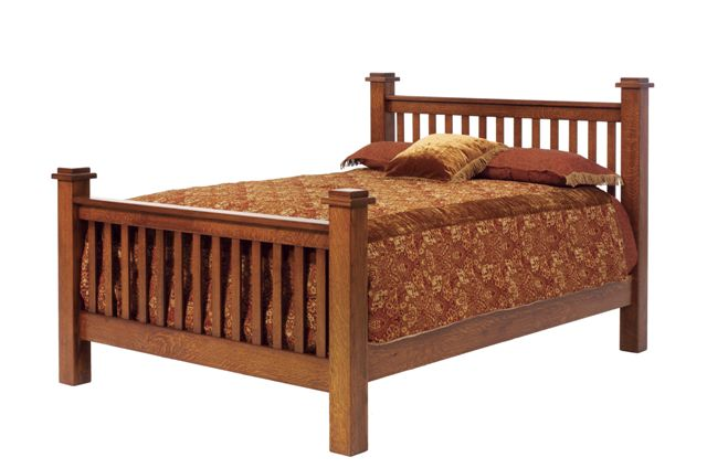 Amish Old English Vintage Mission Bed