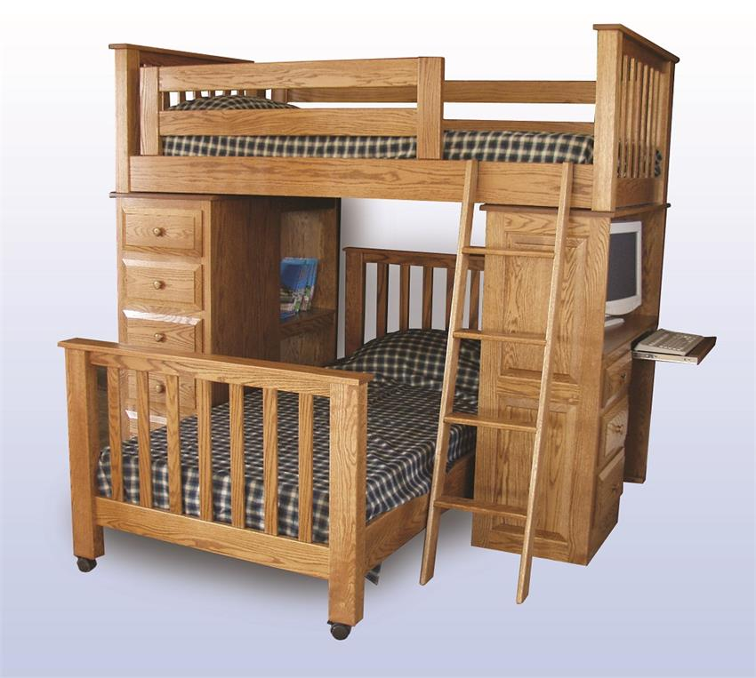 Amish Kids' Double Loft Bed