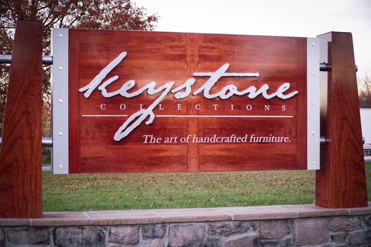 Keystone Collections sign outside of the facility