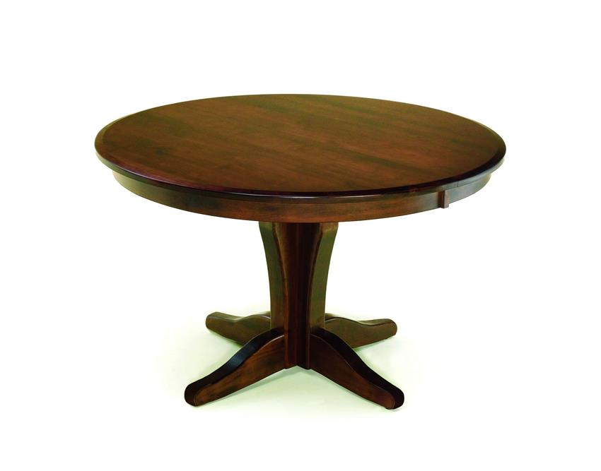 Amish Vintage Single Pedestal Dining Table