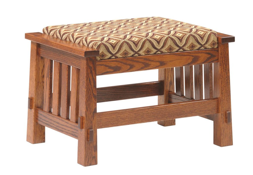Amish Countryside Mission Upholstered Ottoman