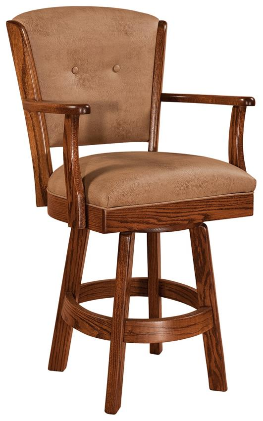 Amish Lansfield Upholstered Swivel Bar Stool