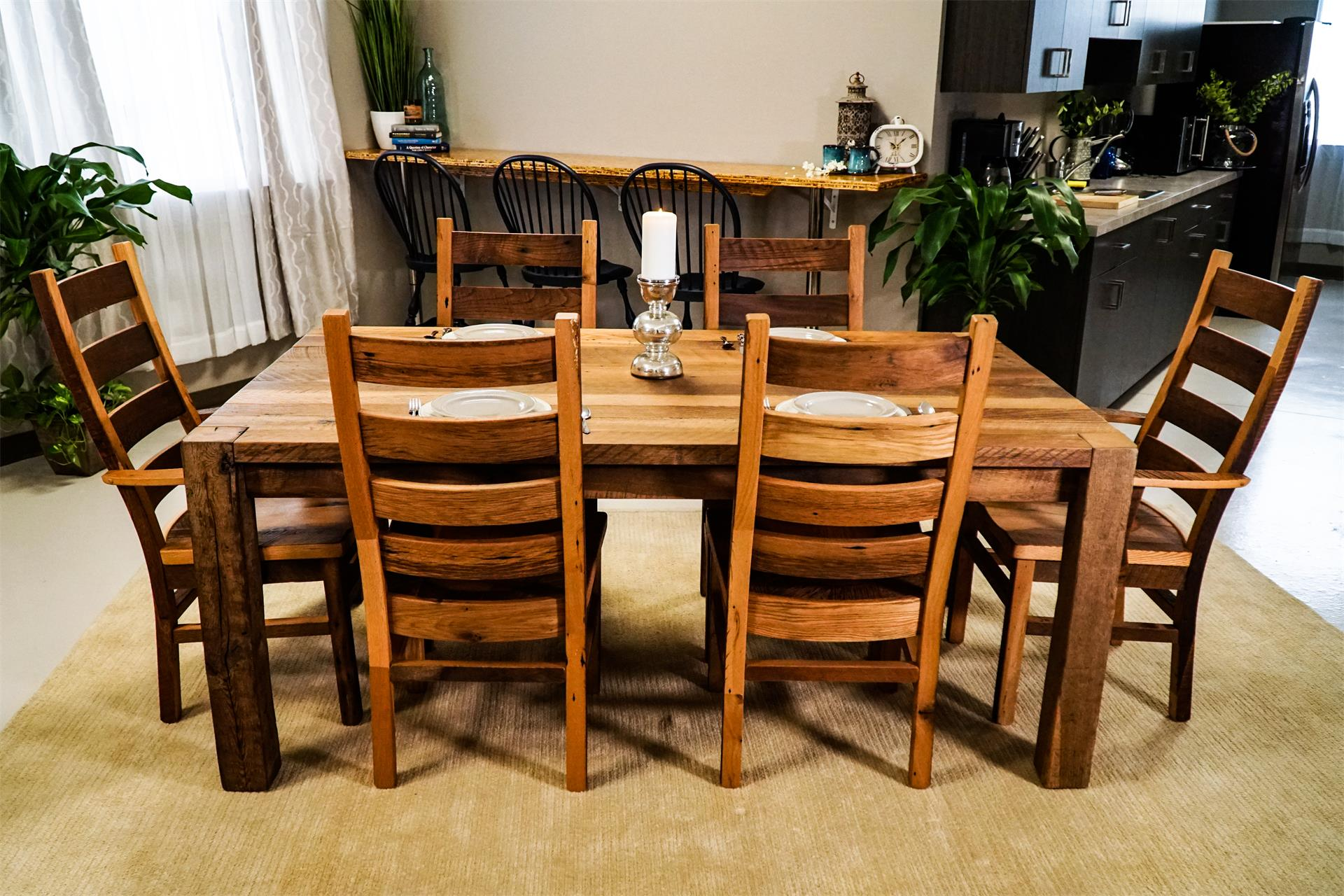 Timber Ridge Reclaimed Barn Wood Dining Table