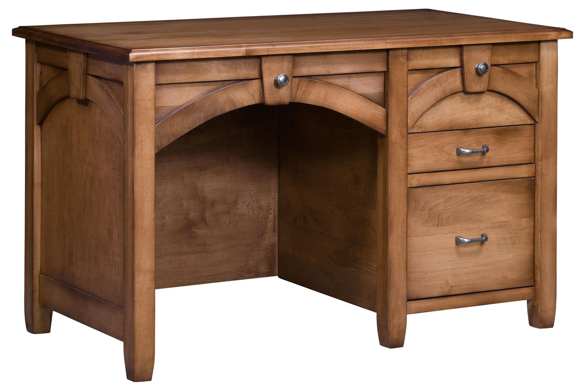 Amish Kensing Single Pedestal Desk