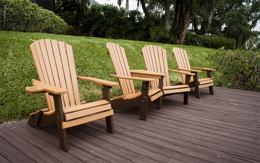 Amish Folding Poly Wood Adirondack Chairs