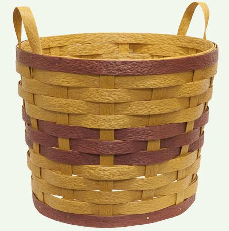 Amish Eco Friendly Two Handle Planter Basket