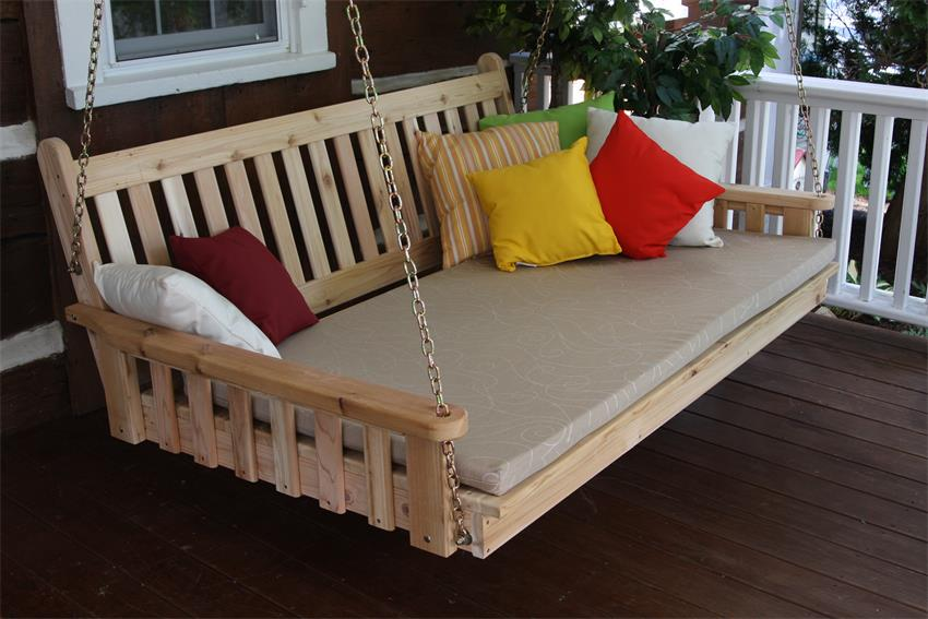 Amish Cedar Wood Traditional English Swing Bed