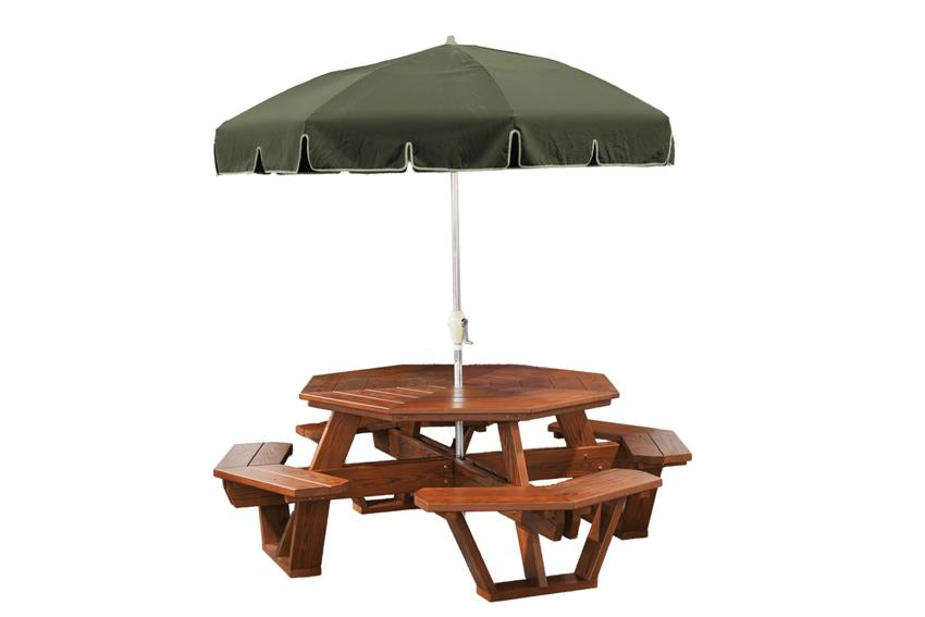 Amish Cedar Wood Octagon Picnic Table