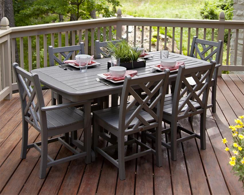POLYWOOD® Chippendale 7-Piece Dining Set