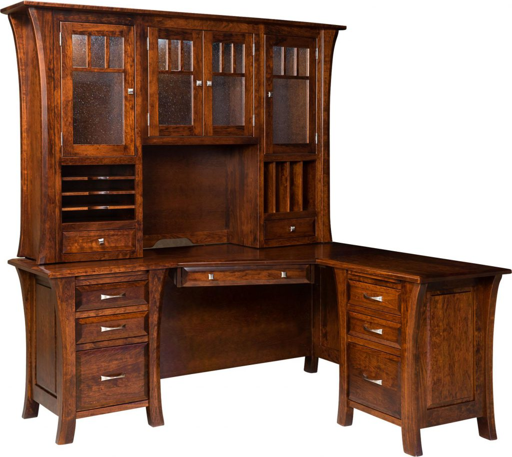 Amish Ensinada L Desk with Optional Hutch