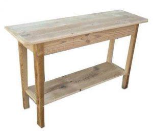Amish Barnwood Shaker  Console Table with Shelf