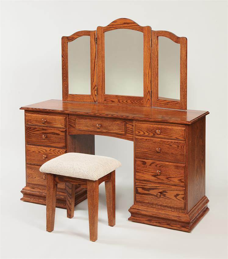 Amish Deluxe Clockbase Dressing Table
