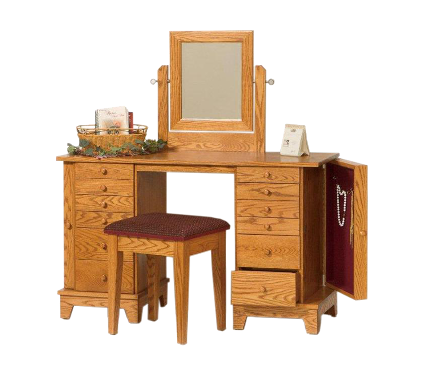 Amish Handcrafted Shaker Dressing Table