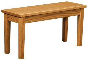 Amish Handcrafted Shaker Extension Bench