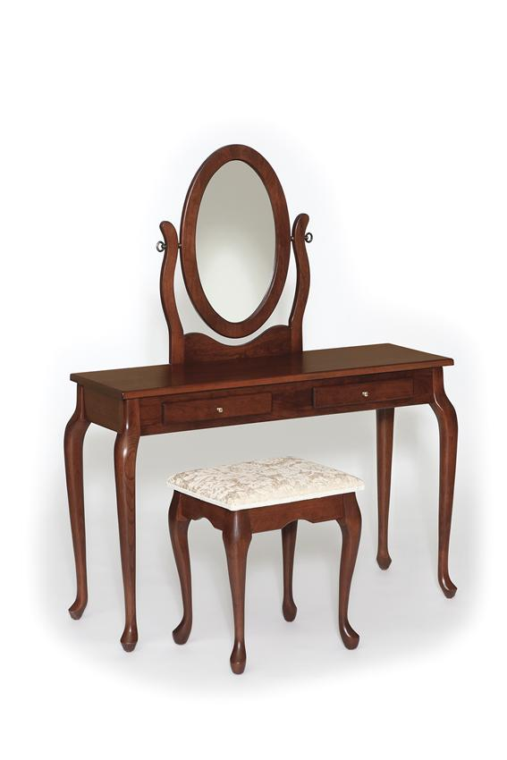 Amish Traditional Queen Anne Dressing Table Vanity
