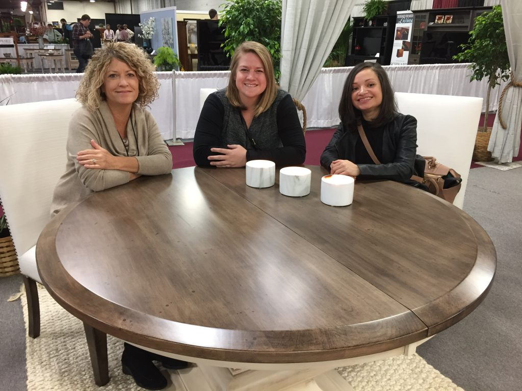 Vice President Linse Miller, Product Portfolio Manager Mary Fehr, and Marketing Assistant Milca Rivera