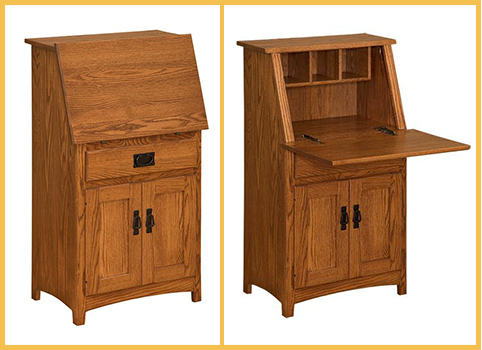 Amish Mission Secretary Desk