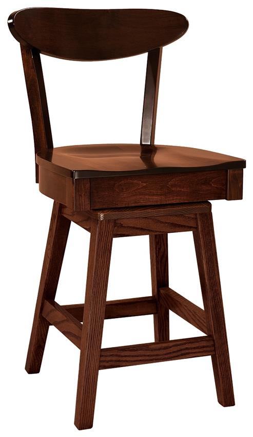 Amish Hawthorn Swivel Bar Stool