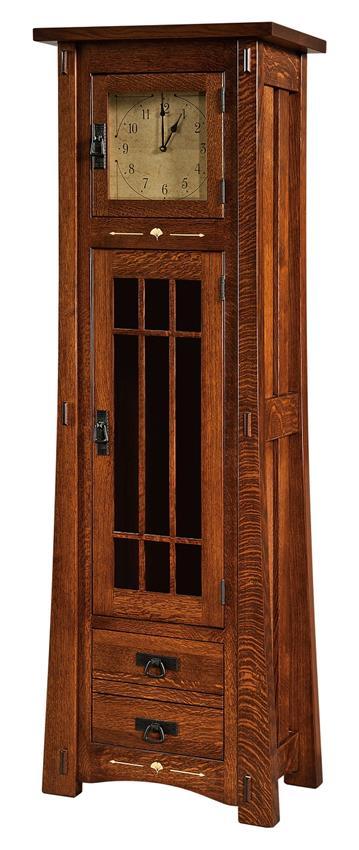Amish Morgan Clock Cabinet