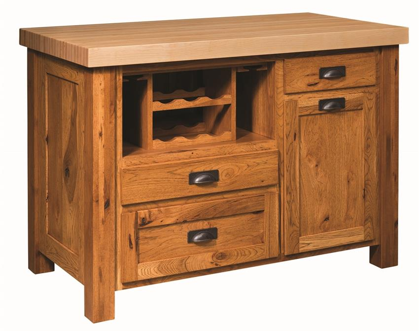 Amish Classic Mission Kitchen Island
