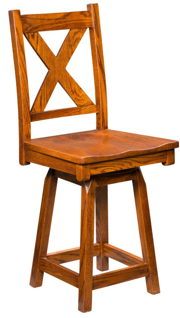 Amish Kenwood Swivel Bar Stool
