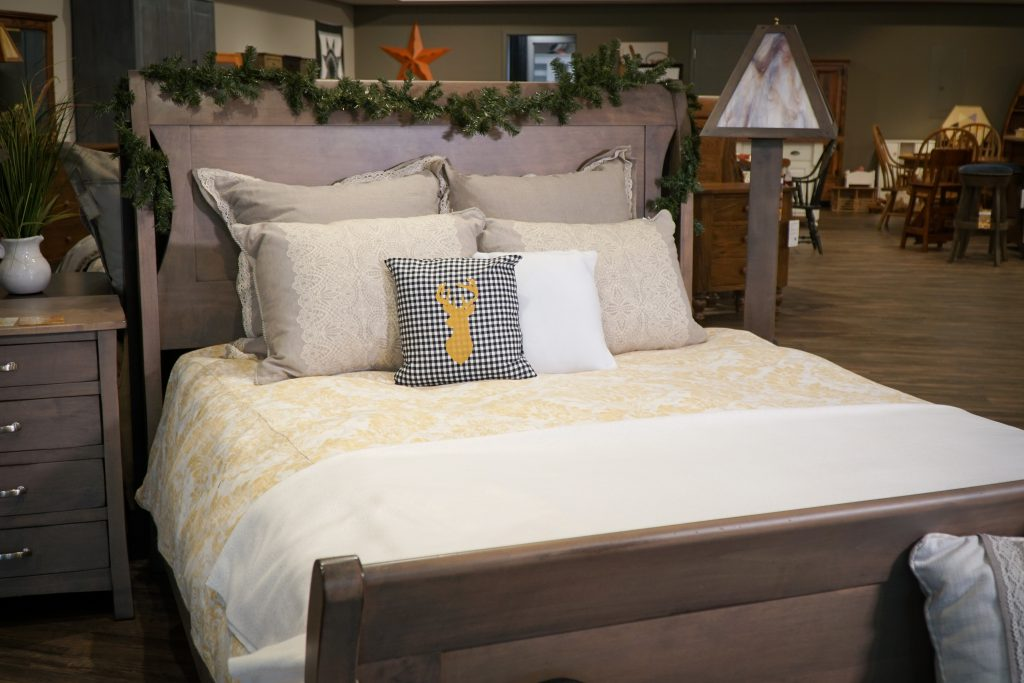 Transitions sleigh bed decorated