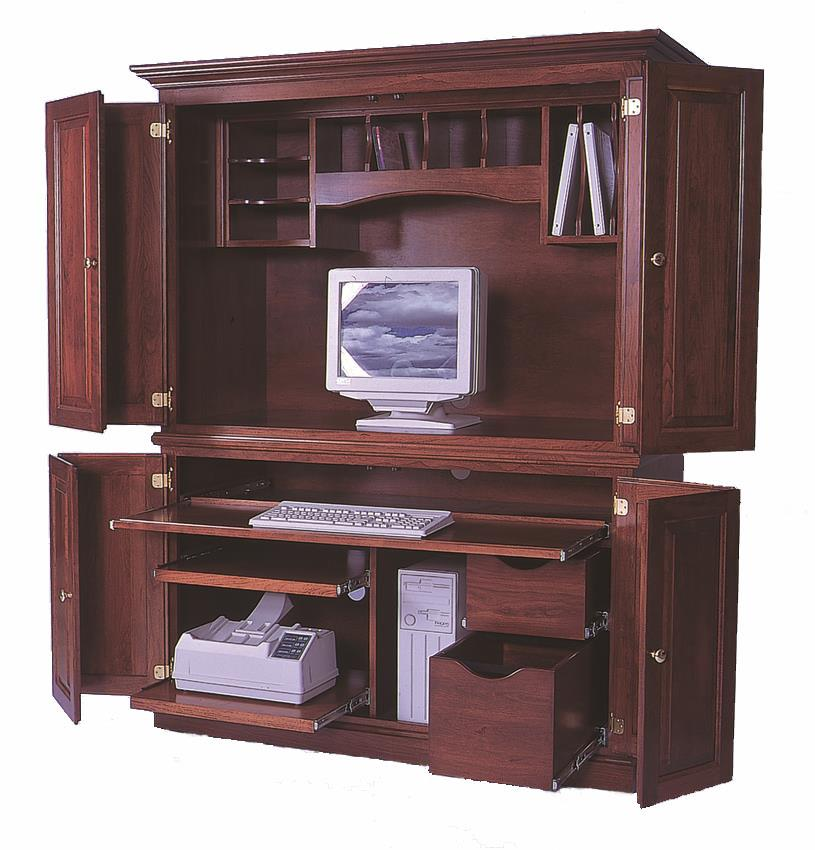 Amish Deluxe Computer Armoire Desk
