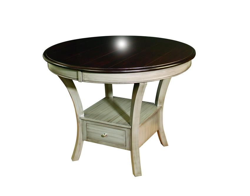 Amish Ensenada Single Pedestal Table