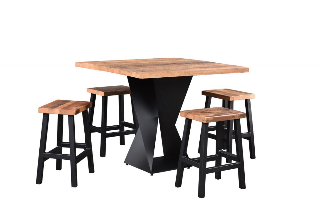 Reclaimed Wood Avenue Bar Table