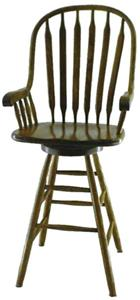 Amish Paddle Back Windsor Barstool Amish Paddle Back Windsor Barstool custom-painted green