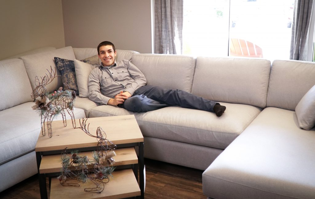 Jake at the Connor Sofa Sectional by Precedent