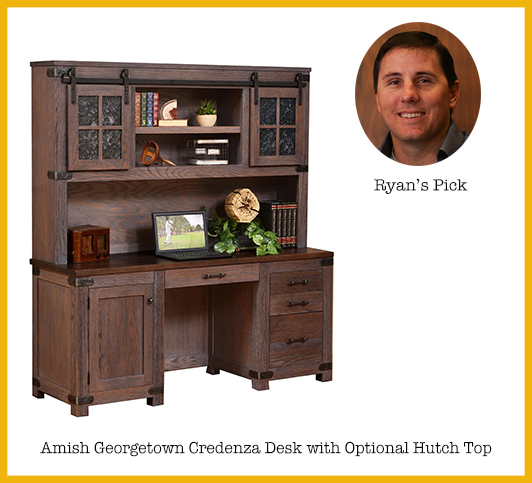 Ryan's Pick: Amish Georgetown Credenza Desk with Optional Hutch Top