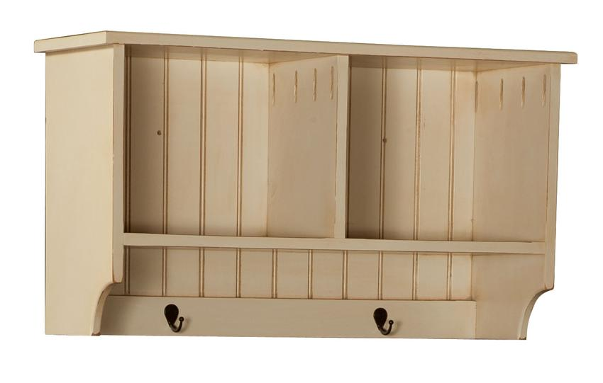 Amish 33 Pine Hall Shelf with Two Hooks