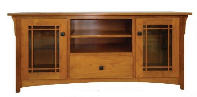 Amish One Drawer Modesto Widescreen TV Console