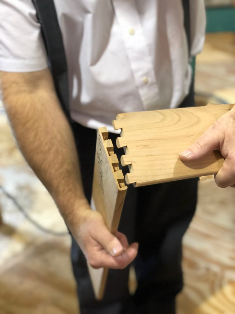 Dovetail joints make a stronger drawer.