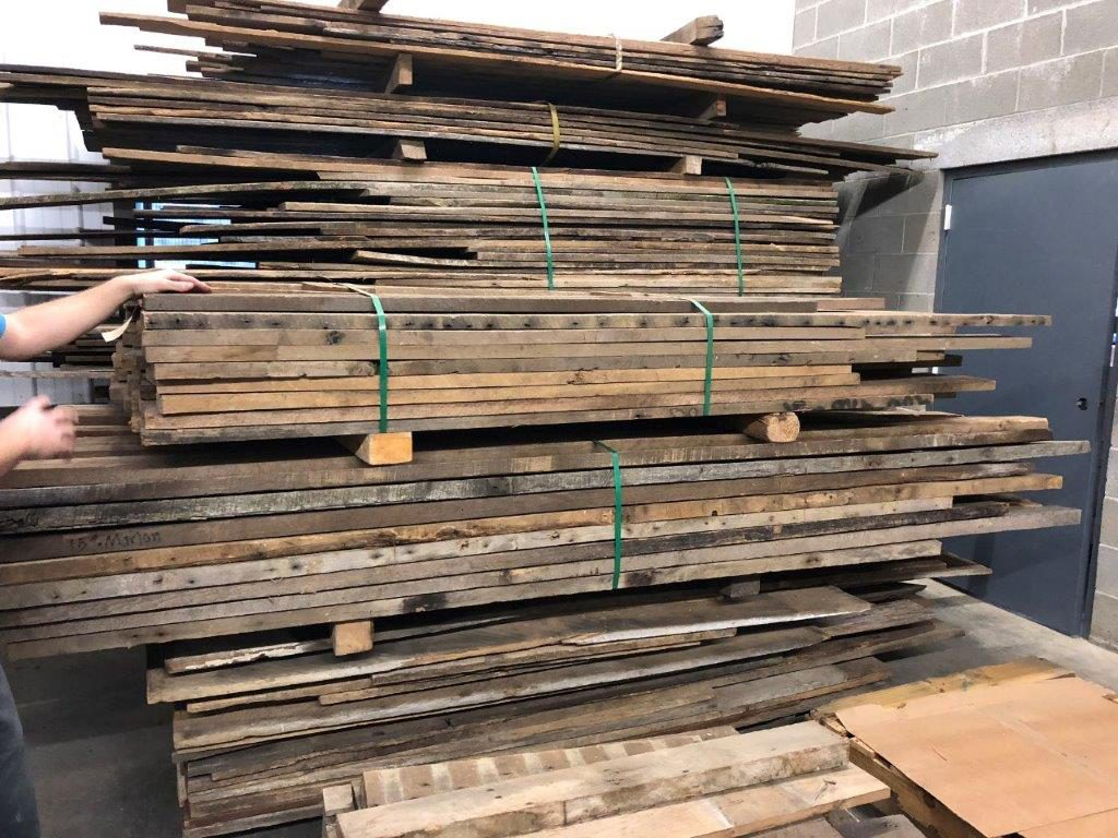 Raw lumber at Urban Barnwood