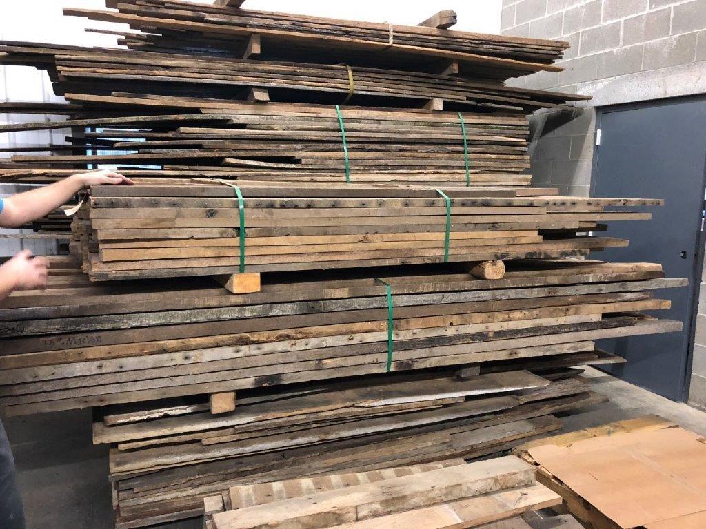 Raw lumber at Urban Barnwood
