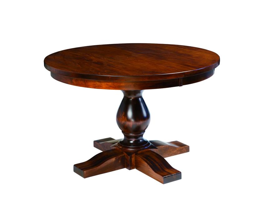 Amish Salem Single Pedestal Dining Table