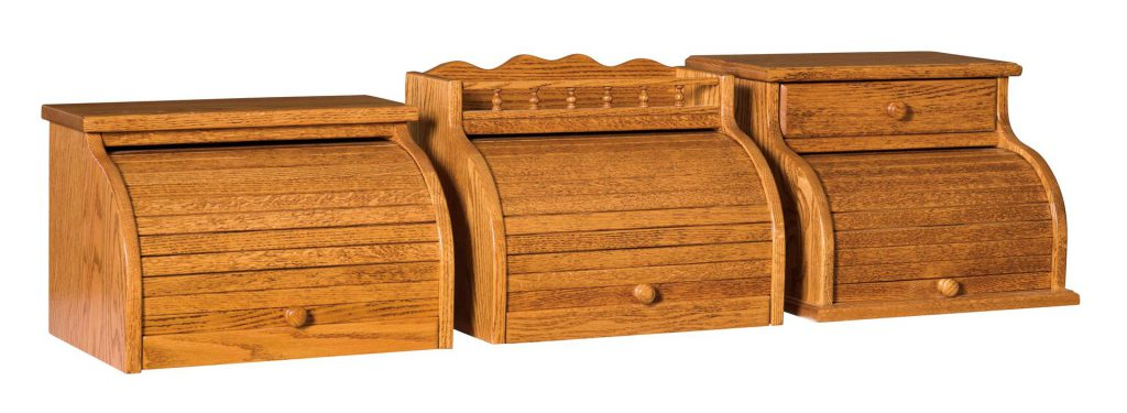 American Made Plain Roll Top Bread Box