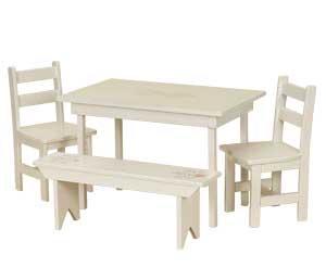 WOOD KIDS PLAYROOM TABLE SET